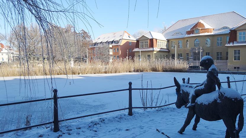 winterlicher Torteich Halberstadt  ©by hoschkat