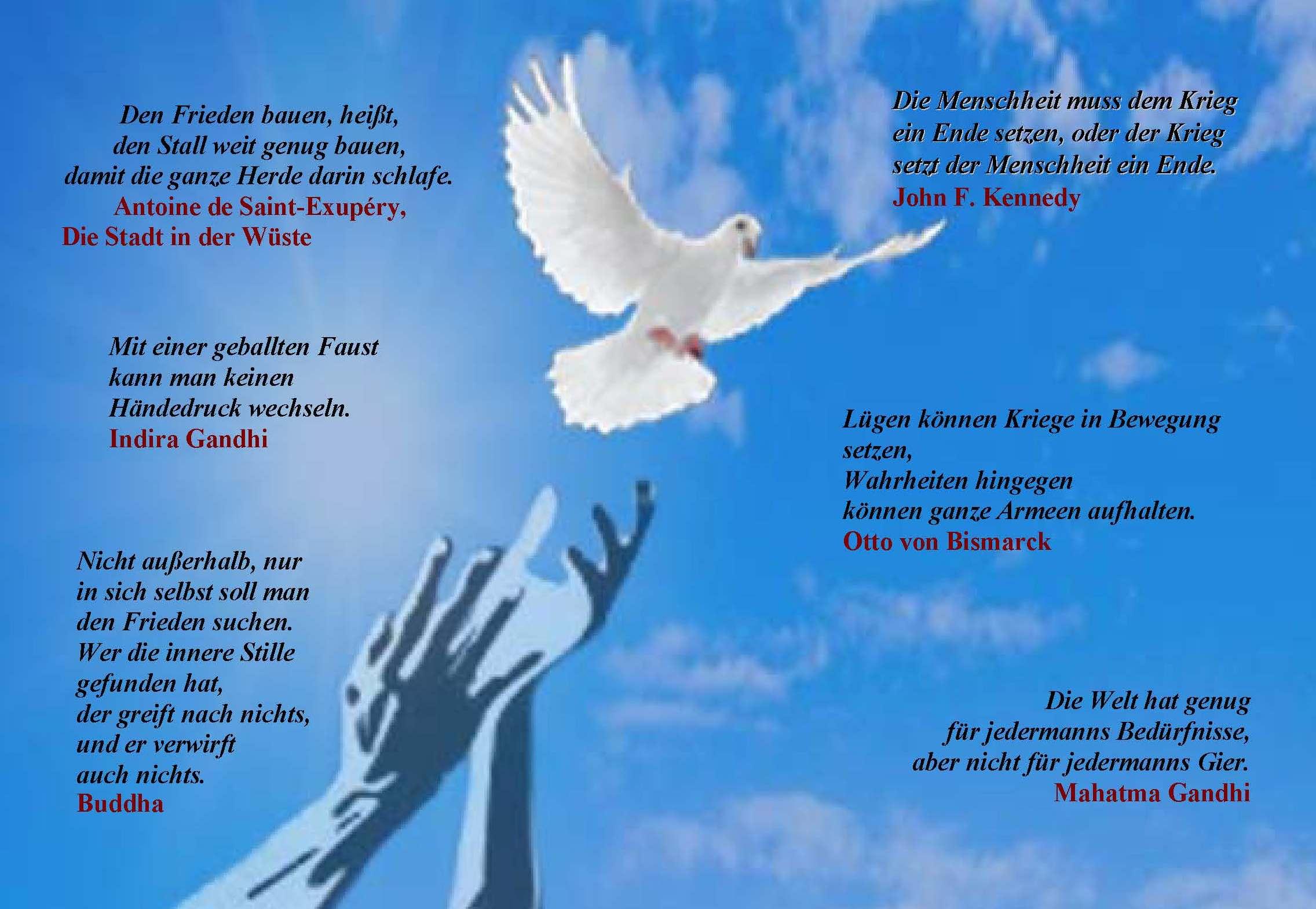 Frieden Zitate