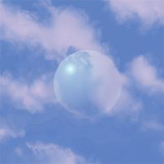 Wolken mit Welt