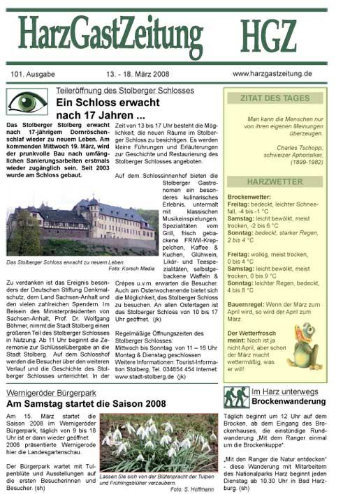 HGZ Ausgabe 101 Seite 1